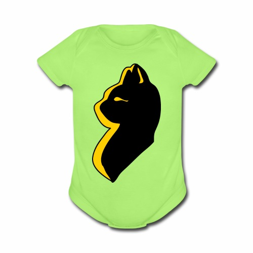 bast cat goddess - Organic Short Sleeve Baby Bodysuit