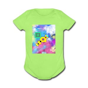 Cosmic Bee - Short Sleeve Baby Bodysuit