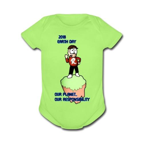 Earth day R3KT #ProtectThePlanet - Organic Short Sleeve Baby Bodysuit