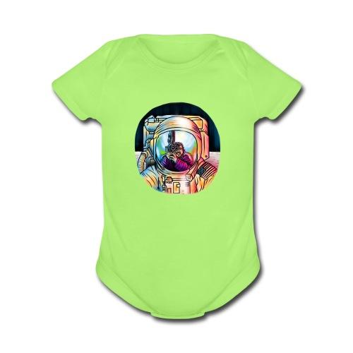 THE MOONING - Organic Short Sleeve Baby Bodysuit