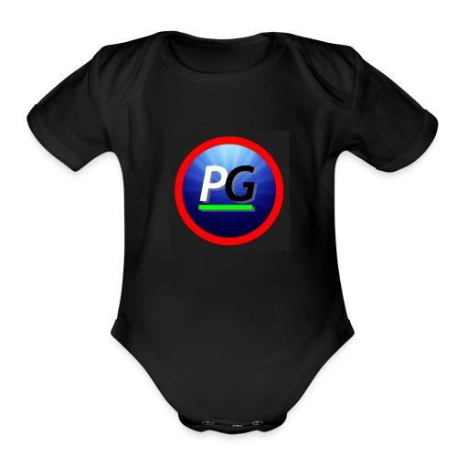 PG logo - Organic Short Sleeve Baby Bodysuit