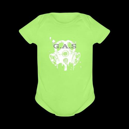 Big White Gas Mask 1 - Organic Short Sleeve Baby Bodysuit