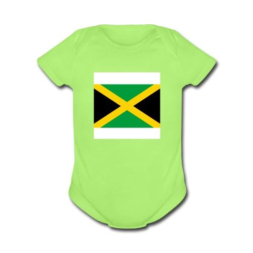 Jamaican Sunshine - Organic Short Sleeve Baby Bodysuit