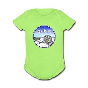 Ben Nevis Mountain - Short Sleeve Baby Bodysuit