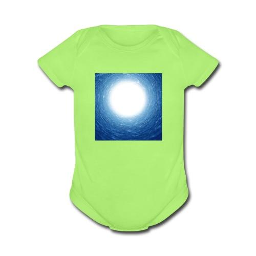 Scintillant Movement - Organic Short Sleeve Baby Bodysuit