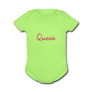 Queen text design - Short Sleeve Baby Bodysuit