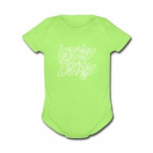 Loyalty Boards White Font - Short Sleeve Baby Bodysuit