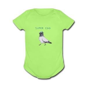 Super Coo - Pigeon - Short Sleeve Baby Bodysuit