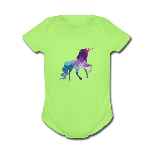 Unicorn for Days - Organic Short Sleeve Baby Bodysuit