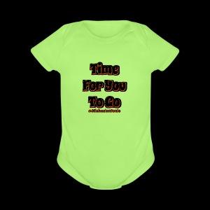 Time 4U 2 Go - Black Series - Short Sleeve Baby Bodysuit