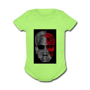 digitalart 4 - Short Sleeve Baby Bodysuit