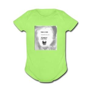 Get ur DEATH shadow mercy n dice - Short Sleeve Baby Bodysuit