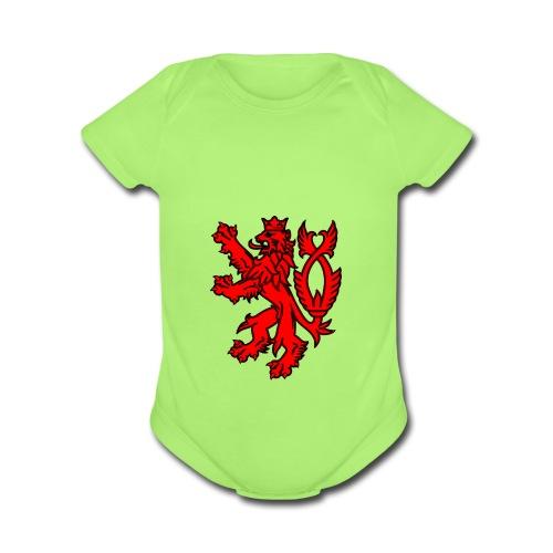english lion oscarb apparel - Organic Short Sleeve Baby Bodysuit