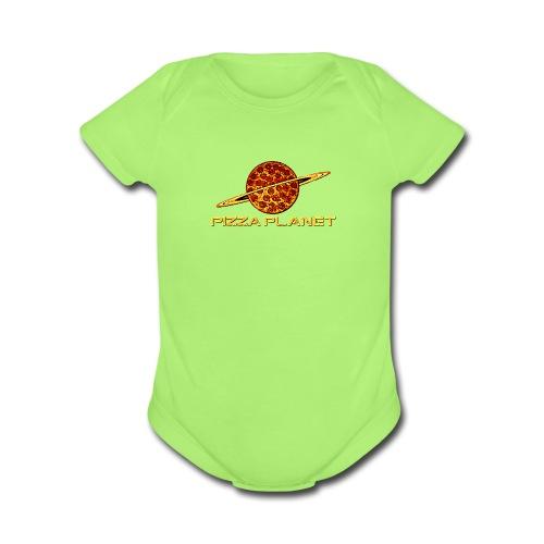 Pizza Planet toys merch - Organic Short Sleeve Baby Bodysuit