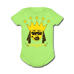 Fashion Kingz Clothing Hip Hop Logo Short Sleeve Baby Bodysuit