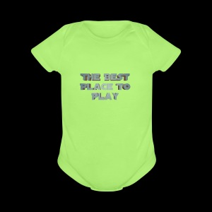 The Best Place To play - Short Sleeve Baby Bodysuit