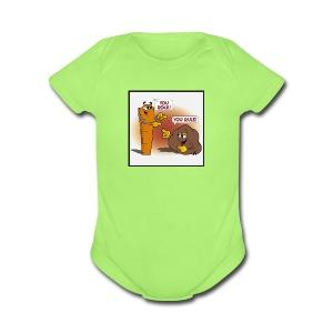Rock And Ruler - Short Sleeve Baby Bodysuit