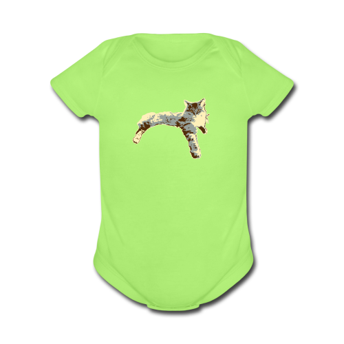 Sassy Cat - Organic Short Sleeve Baby Bodysuit