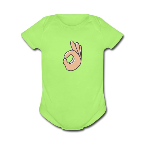 Neck - Organic Short Sleeve Baby Bodysuit
