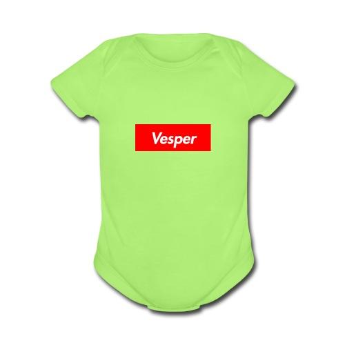 Vesper - Organic Short Sleeve Baby Bodysuit