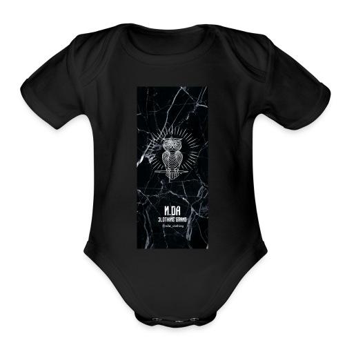 coque-BLAKKK - Organic Short Sleeve Baby Bodysuit
