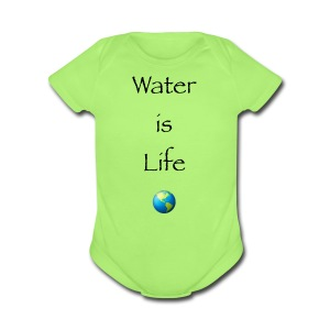 IMG 1041Water is Life - Short Sleeve Baby Bodysuit