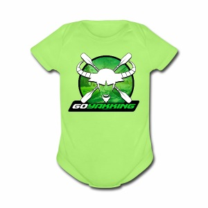 Go Yakking on Green - Short Sleeve Baby Bodysuit