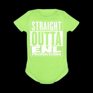 Straight Outta ENL Productions!! - Short Sleeve Baby Bodysuit