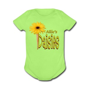 The Daisies Team Logo - Short Sleeve Baby Bodysuit