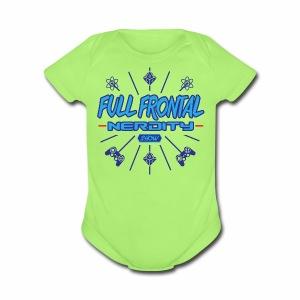 Full Frontal Nerdity Show Logo - Short Sleeve Baby Bodysuit