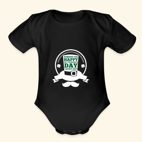 patrick day - Organic Short Sleeve Baby Bodysuit