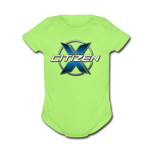 CitizenX Team Logo - Organic Short Sleeve Baby Bodysuit