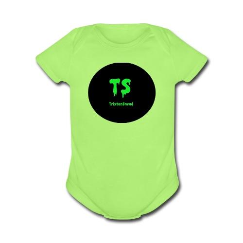 Tristan Snead Zombie Logo - Organic Short Sleeve Baby Bodysuit