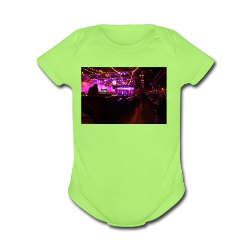 brooklyn bowl - Organic Short Sleeve Baby Bodysuit
