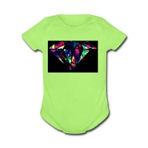 diamond-7 - Short Sleeve Baby Bodysuit