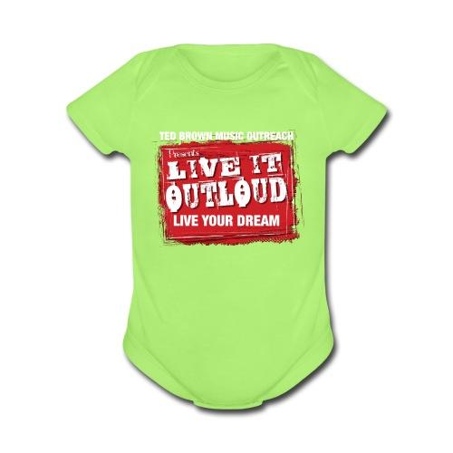 Live It OutLoud Logo - Organic Short Sleeve Baby Bodysuit