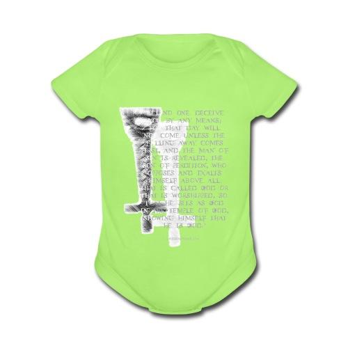 Antichrist design 1 - Organic Short Sleeve Baby Bodysuit