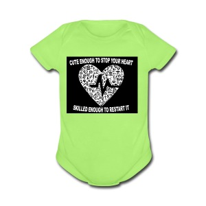 CUTE GIRL - Short Sleeve Baby Bodysuit