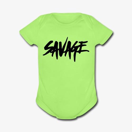 Savage Nation - Organic Short Sleeve Baby Bodysuit