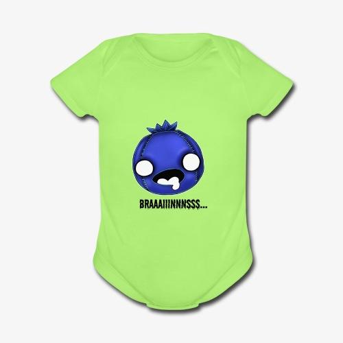 Zomberry wants braaaiiinnnsss - Organic Short Sleeve Baby Bodysuit
