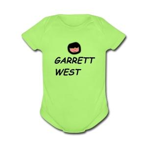 Garrett West With Face - Short Sleeve Baby Bodysuit
