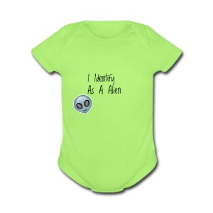 I Identify As a Alien - Short Sleeve Baby Bodysuit