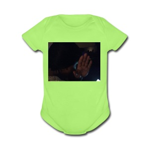 Out my face - Short Sleeve Baby Bodysuit