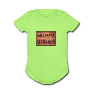 Midwest Monsters Wood Logo - Short Sleeve Baby Bodysuit