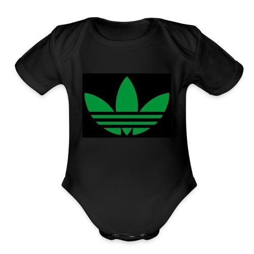 Small logo - Organic Short Sleeve Baby Bodysuit