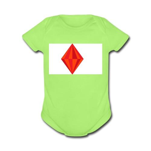 firegem - Organic Short Sleeve Baby Bodysuit