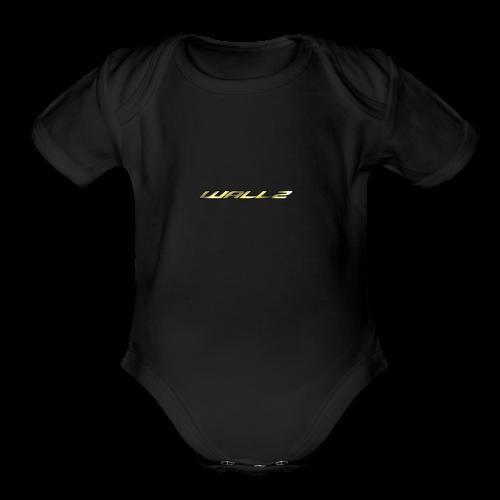 Wallz Name Design - Organic Short Sleeve Baby Bodysuit