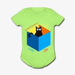 Schrodinger's Cat Lives - Short Sleeve Baby Bodysuit