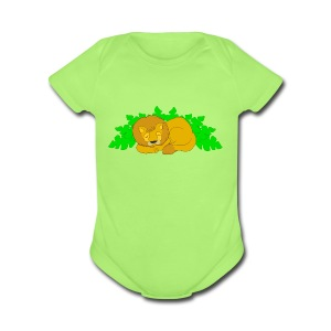Sleeping Lion - Short Sleeve Baby Bodysuit