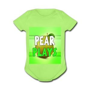 Phone Case Pear Plays Logo - Short Sleeve Baby Bodysuit